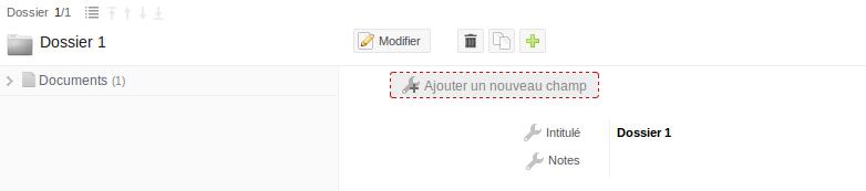 Mode conception : ajouter un champ à une rubrique de la base de données