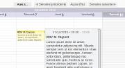 Vue calendrier (Agenda) : prévisualisation au survol