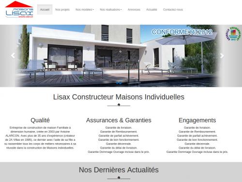 Site internet pour un constructeur de maisons individuelles