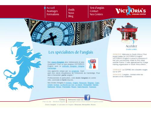 CMS réseau centres de langues Victoria's English