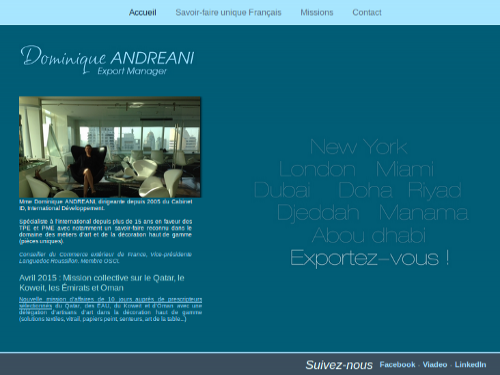 Site vitrine export manager