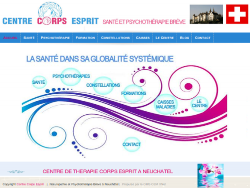 Migration CMS site vitrine naturopathe et acuponctrice (Suisse)