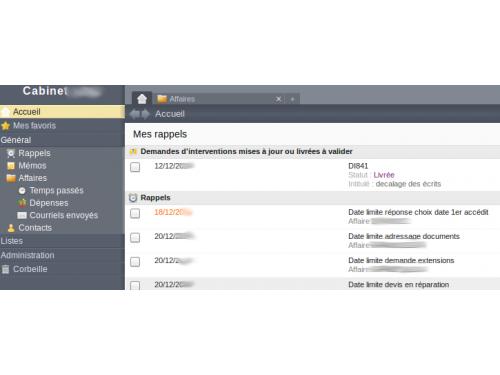 Application intranet et gestion de documents pour un cabinet d'expertise