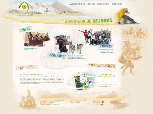 Site internet association organisatrice de séjours et vacances scolaires