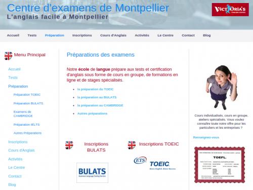 Site centre d'examens anglais à Montpellier