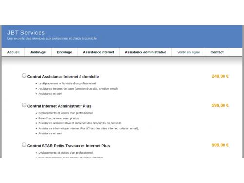 Site vente en ligne de services à la personne