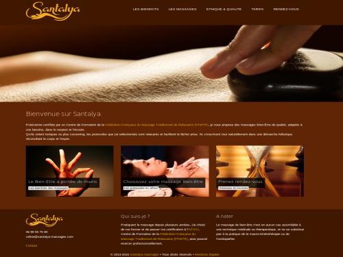 Site praticienne massages bien-être